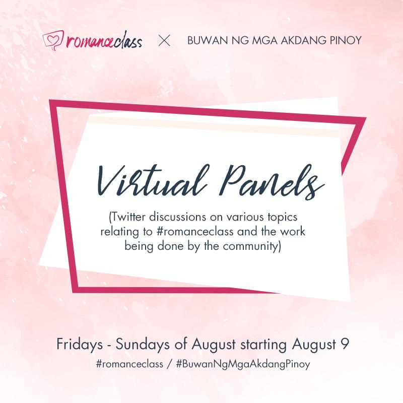 Buwan Ng Mga Akdang Pinoy Virtual Panels by #romanceclass